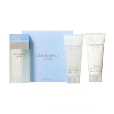 light blue edt 100 100 100 set