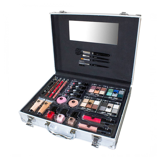 Beauty Unlimited Train Case SET Complete Makeup Palette